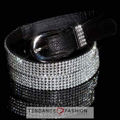 6e2adde8098f ceinture noir avec boucle strass,ceinture a strass,ceinture large en ...