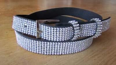 ceinture noir avec boucle strass,ceinture a strass,ceinture large en strass 2742542c98c